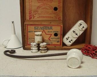 Leverlox Porcelain Insulator Handle Vintage Electric Fence Gate Iron Part