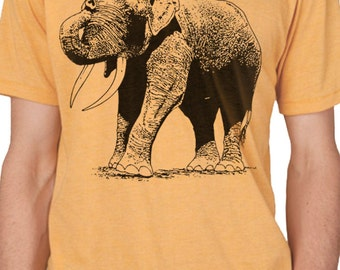 Husband Gift Cool Graphic Elephant Mens T shirt Gifts for Dad Fathers Day Gift Wife Gift Retro Tee Dad Gift