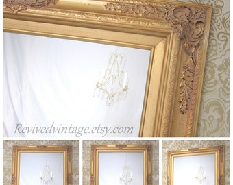 "GOLD FRAMED MIRROR - MaNY SiZES Available- Gold Vanity Mirror 31""x27"" Ornate Decorative  Bathroom Mirror Vanity Mirror Bathroom Mirror"