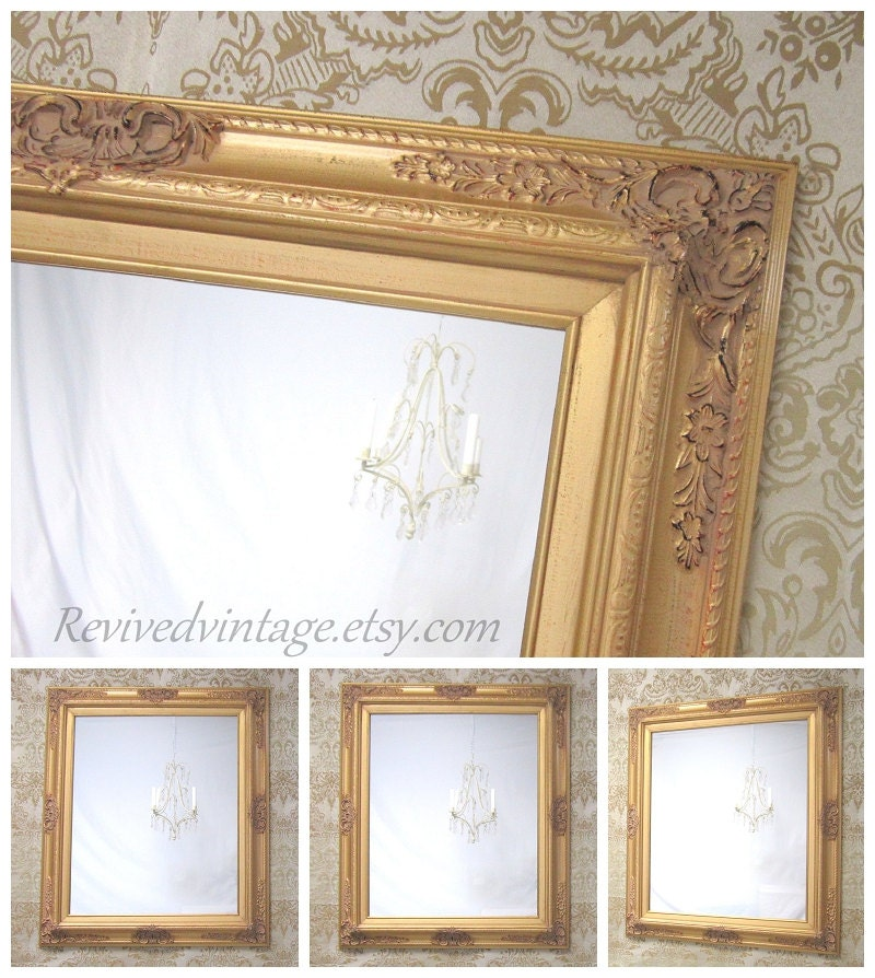 GOLD FRAMED MIRROR MaNY SiZES Available Gold Vanity Mirror