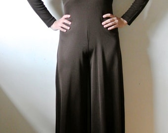 SALE - Vintage Brown Jumpsuit Size X-Small Small Gift For Her