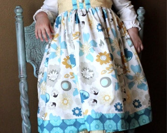 Lost and Found Knot Dress ----Available Sizes 12 months to 4T (sizes 5 to 10 available in a separate listing)