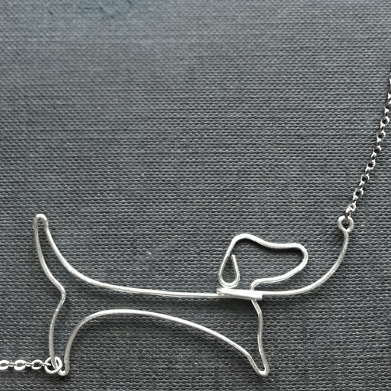 Dachshund Necklace - Dog Lover Gift, Daschund Pendant, Sausage Dog, Pet Jewelry, Made to Order - 'Dachshund'