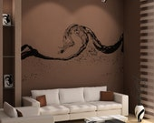 Vinyl Wall Decal Sticker Water Wave OSAA1551s
