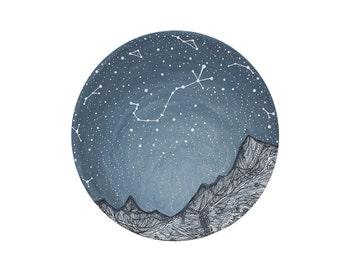 Scorpio Constellation // Fine Art Print // Nursery Art // Scorpio and the Blue ridge Mountains