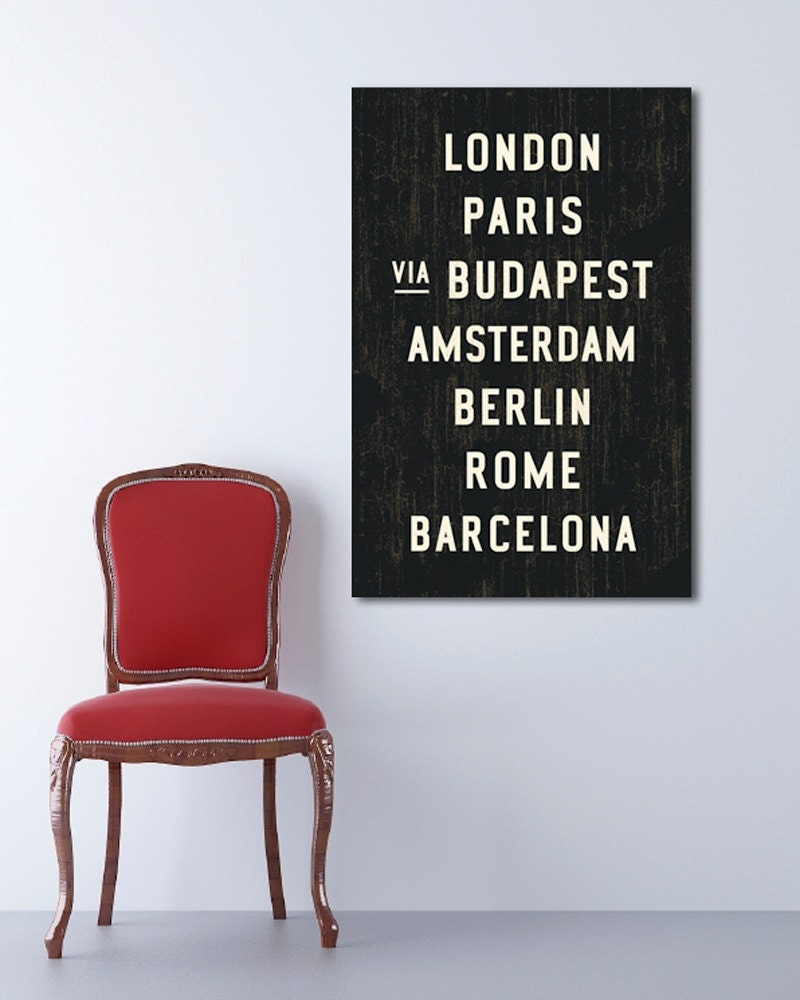 European Canvas Wall Decor Travel Art Industrial Home Decor