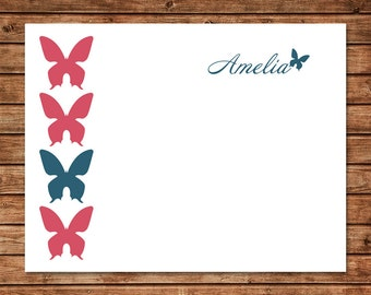 Personalized Stationery - Butterfly (Set of 10)
