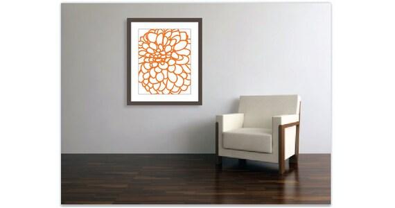 Wall Decor Under 20 : Modern dahlia wall art flower no print