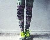 Neon Spring Tribe leggings