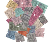 15 Vintage UNITED KINGDOM Used Bus Tickets - Altered arts, mixed media, scrapbooking supplies