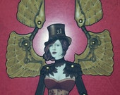 Steampunk Elise Jointed Paper Doll