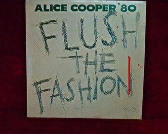 ALICE COOPER - Flush the Fashion - 1980 Vintage Vinyl Gatefold Record Album