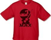 Ninja Birthday Shirt - 7th Birthday T-shirt (Choose Your Number, Any works for us) - Kung Fu Ninja Birthday Party - Personalized Shirts