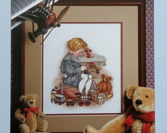 Better Homes and Gardens THE LITTLE AVIATOR Carol Emmer? - Counted Cross Stitch Pattern Chart