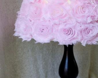 Shabby Chic Lamp Shade, Shabby Chic Nursery Decor, Rose Lamp Shade, Nursery Lamp Shade, Lamp Shade, Shabby Chic Lamp Shade, Rose lamp Shade