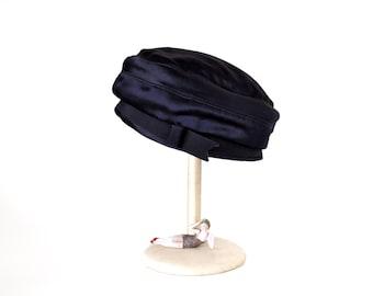 Vintage Lord & Taylor Navy Blue Silk Hat