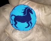 Unicorn Crochet Pillow