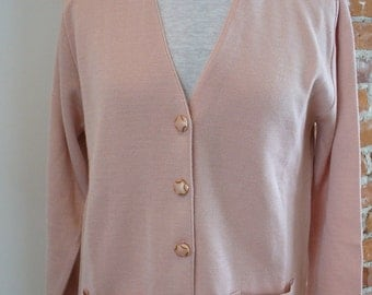 Made in France Parisian  Pink Knit Jacket