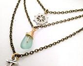 Layered Necklace Set / Layering Necklace / Stone Necklace / Delicate Necklace / Minimal Necklace