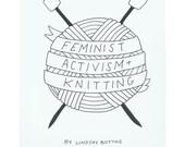 INSTANT DOWNLOAD Feminist Activism + Knitting Zine