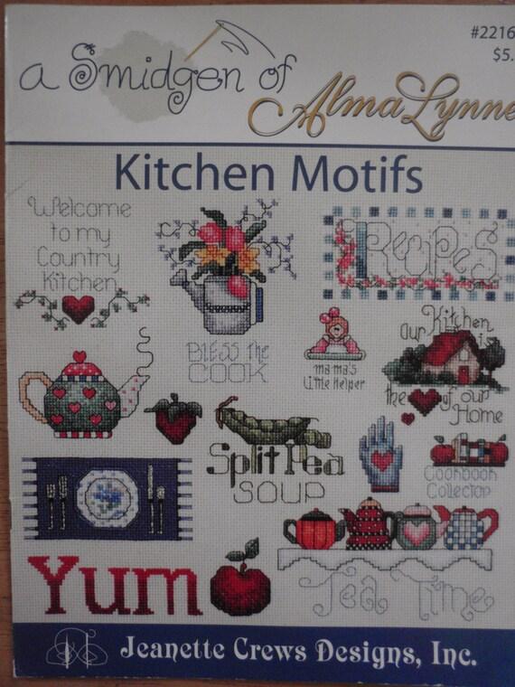 A smidgen of alma lynne kitchen motifs counted cross for Cross stitch kitchen designs