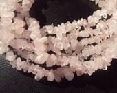 50% OFF SALE Rose Quartz Chip Beads 7-9mm 36 Inch Strand. Pink, Blush, Pale, Ballerina