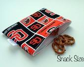 Snack & Sandwich Bag Beavers Print Eco-Friendly Reusable -- FREE US SHIPPING