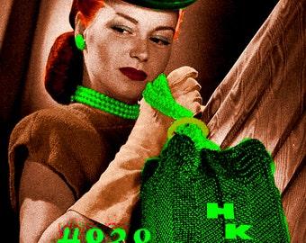 Vintage 1940s Bonita Box Bag 838 PDF Digital Crochet Pattern