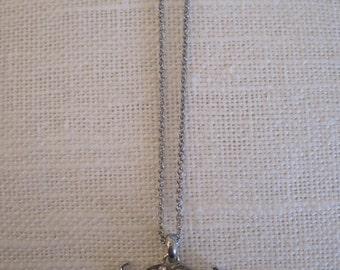 Silver Mustache Necklace - Silver Rhinestone Mustache Necklace - Stache Necklace - Crystal Mustache Necklace - Stache Jewelry