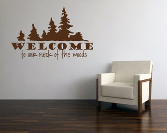 Welcome Wall Decals - Vinyl Wall Sticker Welcome Vinyl Wall Art 0025