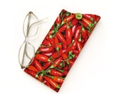 Red Chili Pepper Eyeglass Case