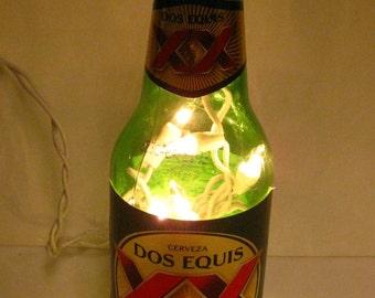 dos equis lager beer lighted bottle. Black Bedroom Furniture Sets. Home Design Ideas