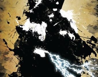Star Wars Dath Sidious / Emperor Palpatine Grunge Print