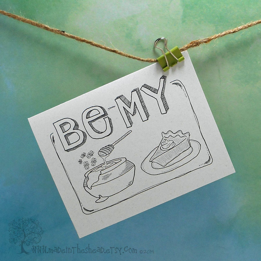 Be My Honey Pie card - Made in the Shea'd