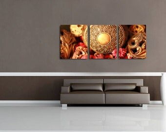 Sale Canvas Set of 3 Wall Decor Collage, Fine Art Photography Still Life Oversized Wall Art -Lets Decorate Canvas Set