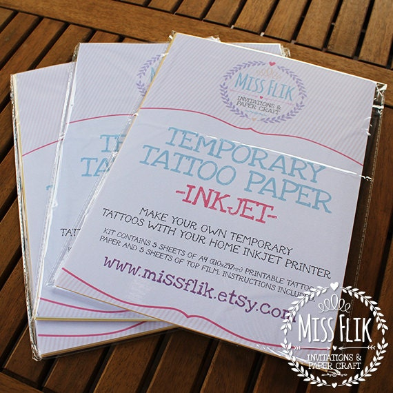 Diy temporary tattoo paper print yourself 5 di for How to make temporary tattoos with printer