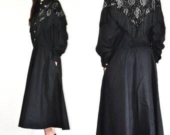 Vintage Western Lilia Suilty Black dress