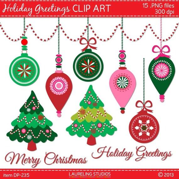 Items similar to digital holiday clip art christmas tree