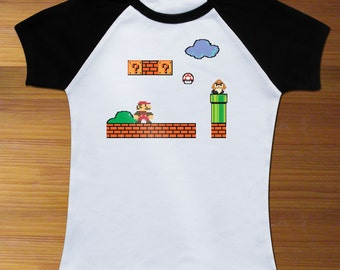 Super Mario Raglan Toddler Shirt