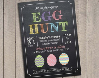 Egg hunt invitation / Easter egg hunt invitation / Easter egg hunt invite / Easter Egg Hunt Printable / Egg hunt invite
