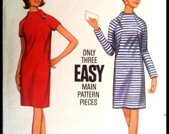 Butterick 4430  Misses' One-Piece Dress Size 12