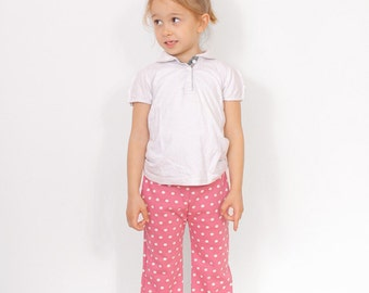 Play PANTS pattern - girls pocket pants pattern pdf - EASY children sewing patterns - from 2 to 9 years