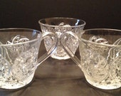Set of 3 EAPG punch cups Westmoreland Paddle Wheel