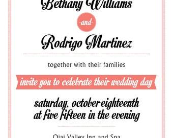 Bethany Wedding Invitation Printabl