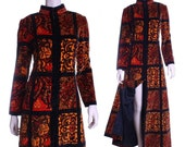60s 70s Oscar de la Renta Turkish velvet festival coat - small or medium