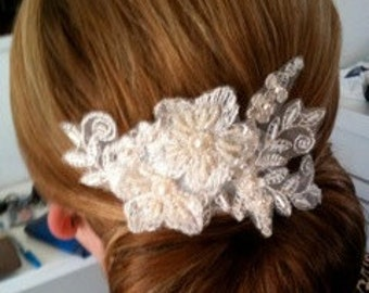 Wedding Lace Hair Comb, Bridal Headpiece