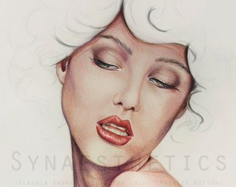 "Fashion Illustration: ""Julian"" Giclée Print on Museo Portfolio Rag."