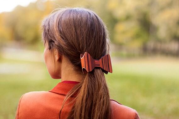 Hair Barrette - Rosewood / hair clip / Wooden hair barrette / hair accessories