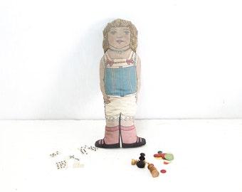 Vintage English 1920s Stuffed Doll