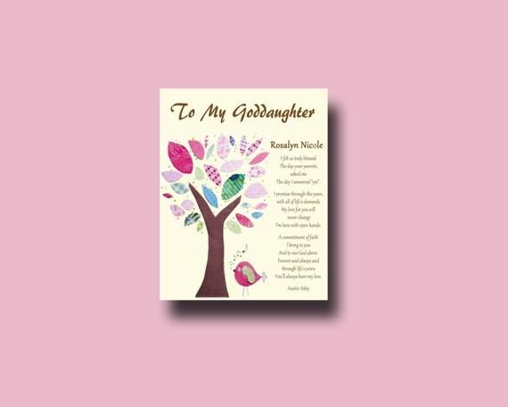 Godmother Wedding Gift: Goddaughter Gift Gift For Goddaughter Personalized Gift